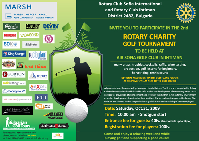 Next 31 02 Invitation Second Charity Rotarian Golf